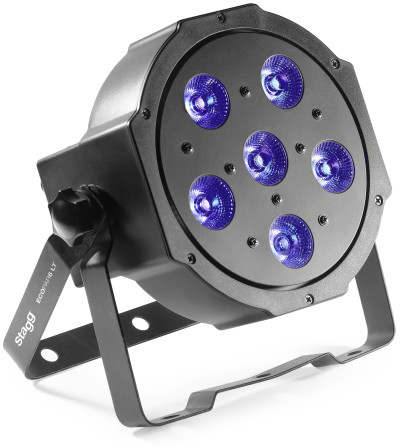 LightTheme™ ECOPAR 6 spotlight with 6 x 10-watt RGBWA (5 in 1) LED