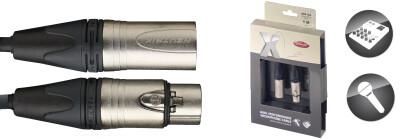 Câble de microphone XLR/XLR (m/f), 1 m