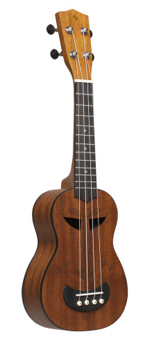 Tiki series soprano ukulele with sapele top, Ah finish, with black nylon gigbag