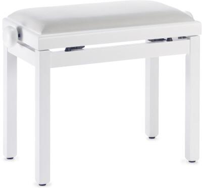 Banquette piano avec pelote en velours blanc