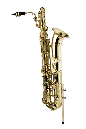 Eb Baritone Saxophone, in flight case