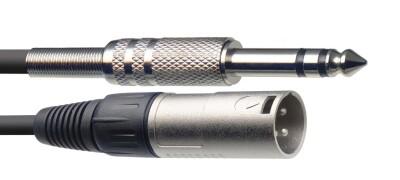 Câble audio, XLR/jack (m/m), 1 m, symétrique
