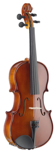 1/4 solid maple violin with ebony fingerboard and standard-shaped soft case