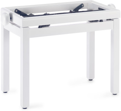 Matt white piano bench without top