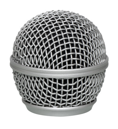 Replacement mesh grille for microphone with spherical head