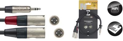 N-Series Y-cable - Stereo Mini Phone Plug / 2 x
