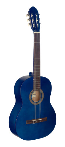 4/4 blue classical guitar with linden top