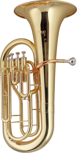 Bb euphonium, 4 piston valves, with ABS case