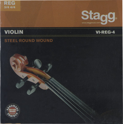 4/4 & 3/4 Violin string set, steel round-wound, extra extra-light