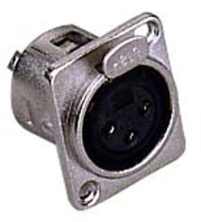 XLR-Einbaubuchse, 3-polig, Metall