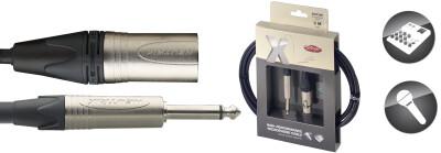 X-Series Professional Microphone Cable - XLR F / Phone Plug