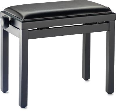 Banquette piano avec pelote ignifugée, skai noir