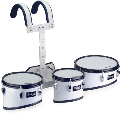 Marching trio tom set with aluminium lightweight carrier