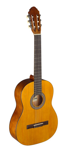 4/4 natural-coloured classical guitar with linden top