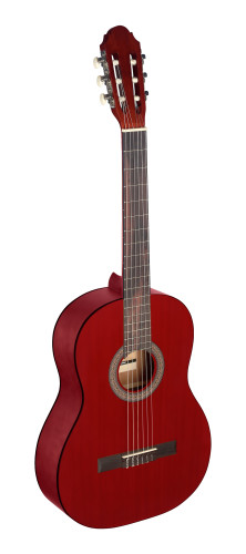 4/4 red classical guitar with linden top