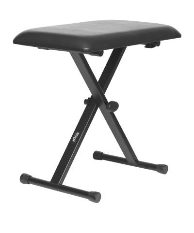 "Keyboard bench with ""X"" folding legs"