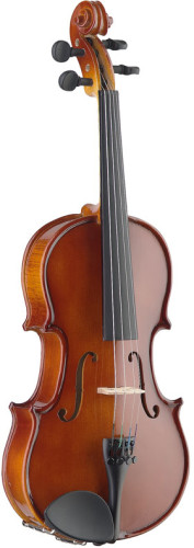 4/4 solid maple violin with ebony fingerboard and standard-shaped soft case