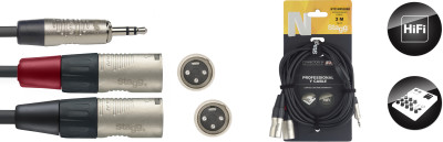 Série N, câble Y, mini jack/jack (m/m), stéréo/mono, 3 m
