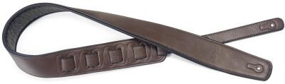 Sangle rembourrée brun foncé en similicuir pour guitare