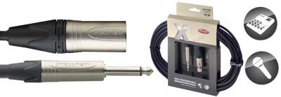 6m XLRf-Klinke Stagg Mikrofonkabel