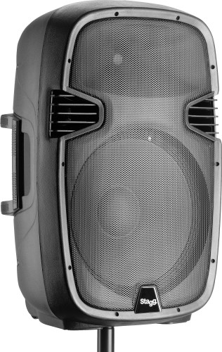 "15"" 2-way active speaker, analog, class B, bi-amplification, 300 watts peak power (260 +40)"