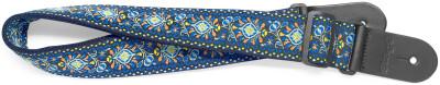 Gewebter Nylon-Gitarrengurt mit blauem Jimi-Muster