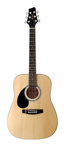 Akoestische Dreadnought gitaar met lindenhouten bovenblad, 3/4 model