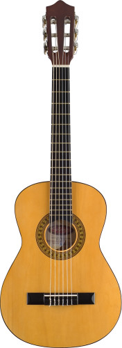 1/4 natural-coloured classical guitar with basswood top
