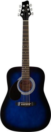 Acoustic Dreadnought Guitar with basswood top, 3/4 model, lefthanded