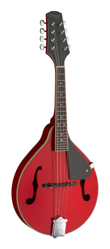 Red bluegrass mandolin with basswood top