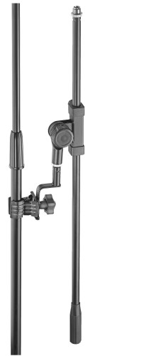Universal microphone boom arm with clamp
