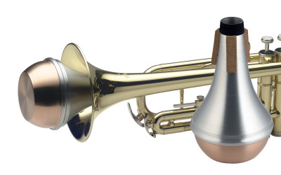 Straight mute for trumpet, with copper bottom