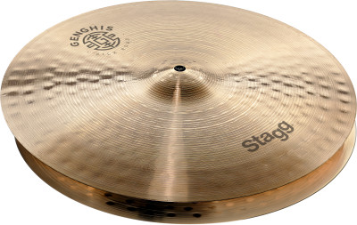"Cymbale Genghis medium 15"" pour charleston"