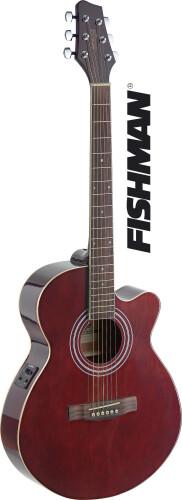 Mini-jumbo electro-acoustic cutaway concert guitar with FISHMAN preamp
