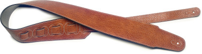 Brown leatherette guitar strap