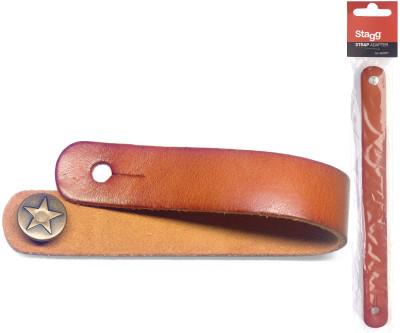 Light brown leather strap adapter