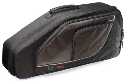 Lightweight, Deluxe wear-proof nylon soft case for alto saxophone