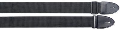 Courroie en nylon noir tressé - Long