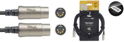 N series MIDI cable, DIN/DIN (m/m), 5 m (16')
