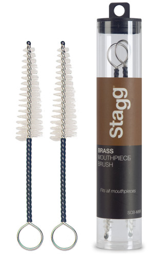 Two universal brass mouthpiece brushes