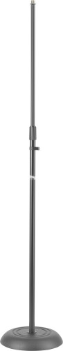 Microphone floor stand w/heavy solid round black base