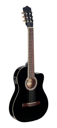 Guitare électro-acoustique classique cutaway avec EQ à 4 bandes