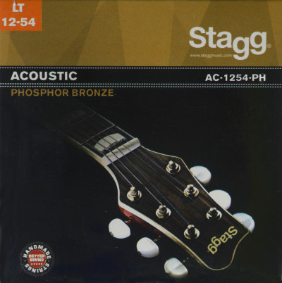 Phosphor-bronze set of strings for acoustic guitar