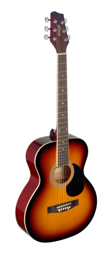 4/4 sunburst auditorium acoustic guitar with linden top