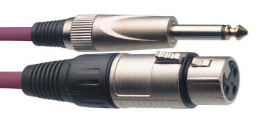 Câble de microphone XLR/jack (f/m), 3 m, violet