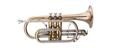 Professional Bb Cornet, Monel, Goldbrass bell material