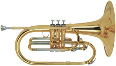 F Marching Mellophone, in koffer