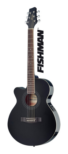Mini-jumbo electro-acoustic cutaway concert guitar with FISHMAN preamp