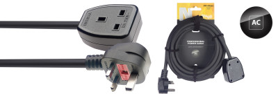 N-Series UK 13A F - UK 13A M Power Extension Cable