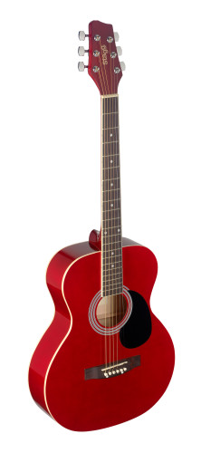 4/4 red auditorium acoustic guitar with linden top